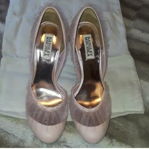 Badgley Mischka Dusk Light Pink Heels